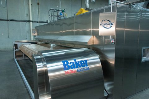 The Hurricane tunnel oven by Baker Thermal Solutions can bake over 500,000 buns  or 150,000 loaves of bread each day