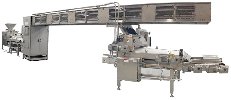 Dough Make-up Line,  capable of panning over 50,000 buns an hour and over 15,000 bread loaves an hour.